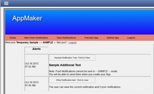 AppMaker Push Notifications